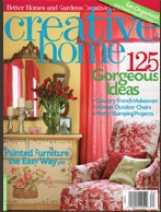 Creative Home Magazine featuring wainscoting