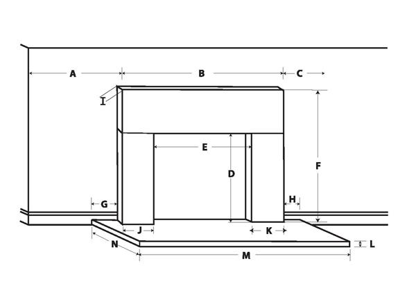 Fireplace Dimension Worksheet Let Us Size A Mantel